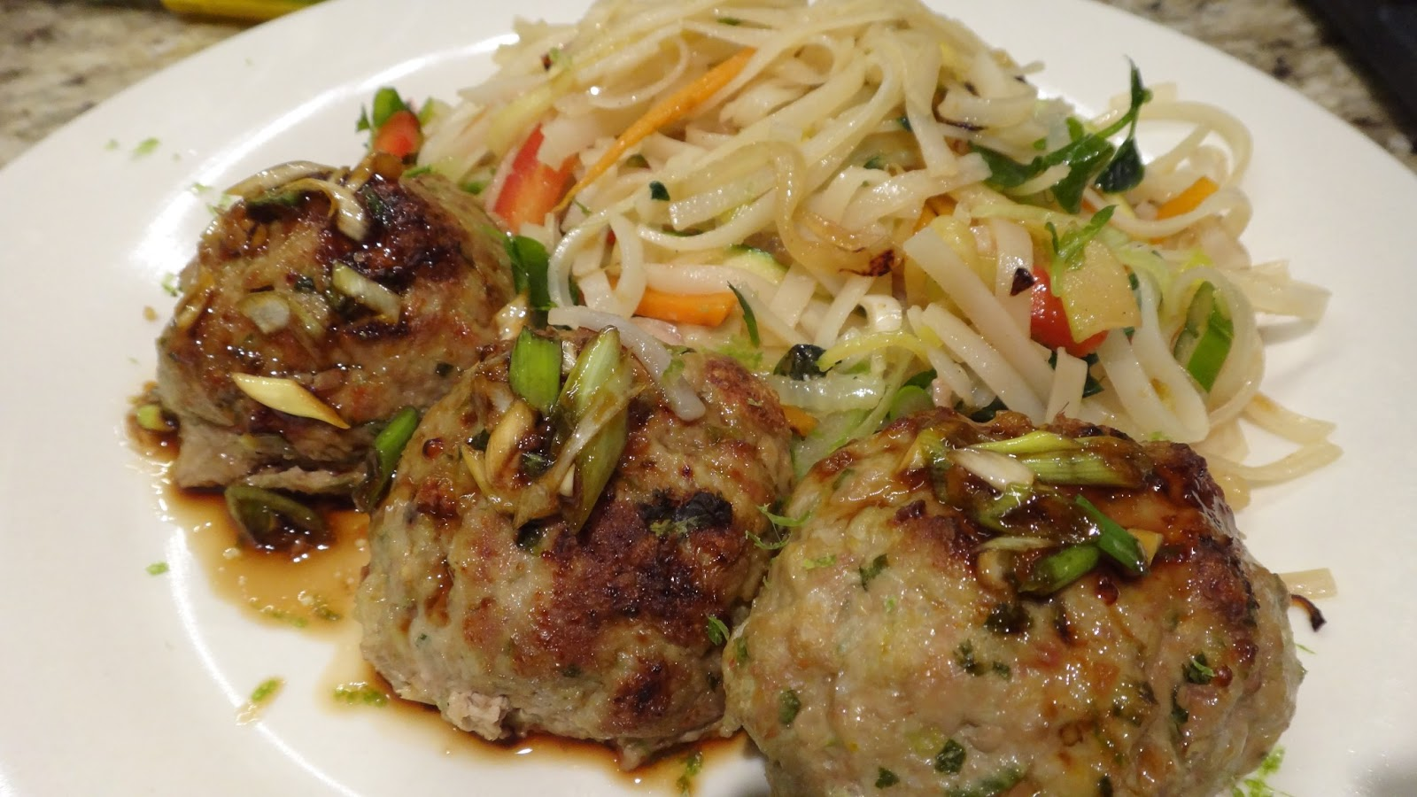 Asian Turkey Meatballs with Sesame Lime Sauce « I WANT TO ...