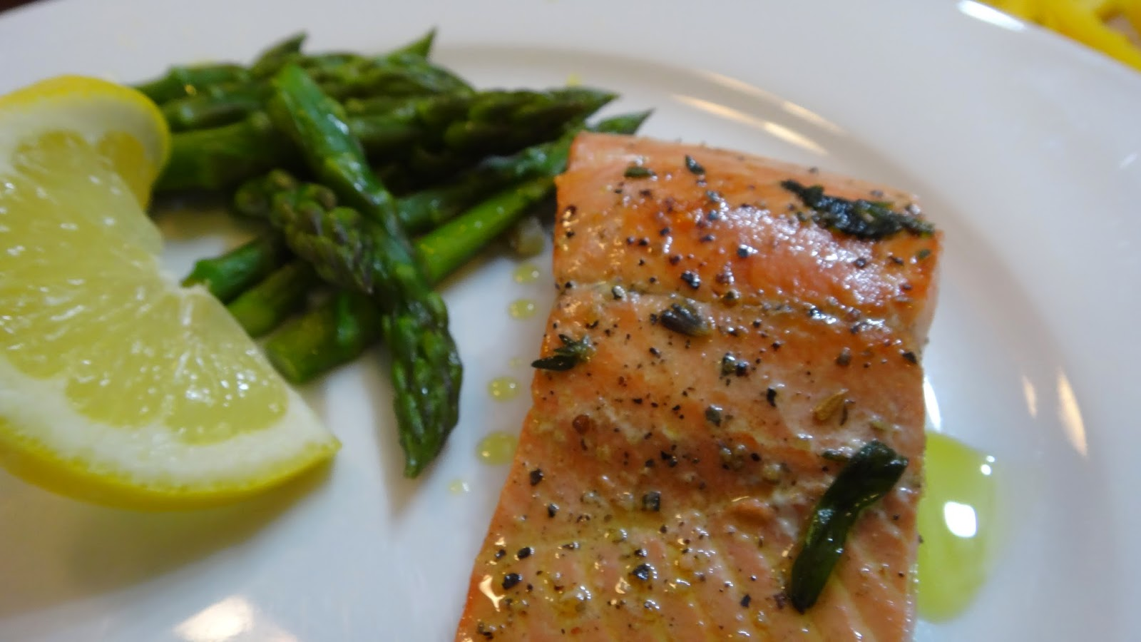 Wine poached salmon with olive oil sear i want to cook that for Frying fish in olive oil